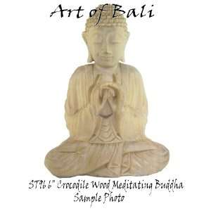 Art of Bali Zen Garden 6 Crocodile Wood Fancy Meditating