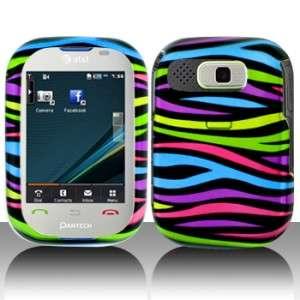 Colorful Zebra Hard Case Cover Pantech Pursuit P9020