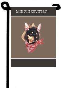 MINIATURE PINSCHER MIN PIN COUNTRY GARDEN FLAG/11x15
