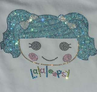 Lalaloopsy MITTENS iron on rhinestone transfer for t shirt |