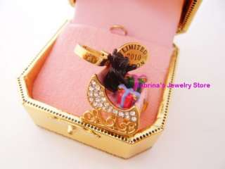 Auth JUICY COUTURE LTD 2010 YORKIE IN SLEIGH CHARM