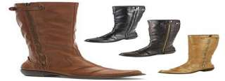 Tall Ruched Riding Style Boots in Black, Brown, Tan & Natural