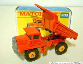 Matchbox RW 28D Mack Dump Truck yellow hubs F box