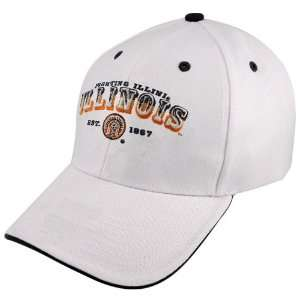Twins Enterprise Illinois Fighting Illini White Pioneer Hat