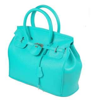 Classic Lady PU Leather Handbag Silver Lock Single Shoulder Bag New