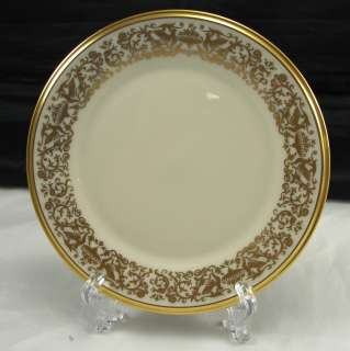 Lenox Tuscany Fine China Salad Plate Gold Trim 8 1/8