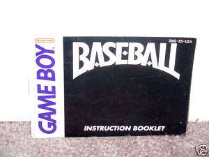 BASEBALL INSTRUCTION BOOKLET   Nintendo Game Boy