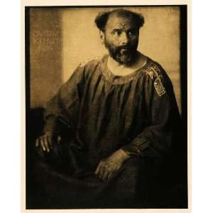 1942 Print German Artist Gustav Klimt Self Portrait Robe