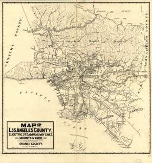 1912 map of Los Angeles Orange County California