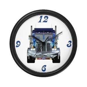 Big Rig Truck Wall Art Clock 10  Home & Kitchen