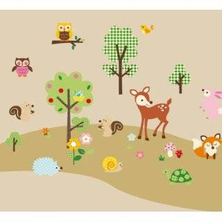 Woodland Animals Baby / Nursery Wall Sticker Decals for Boys and Girls