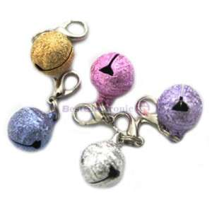 Dog Cat Pet Glossy Collar Charm Bell Tag 5 Colors