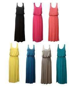NEW LONG JERSEY VEST TOP WOMENS MAXI DRESS 6 8 10 12