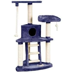 Whisker World Tri Level Jungle Gym Cat Furniture, Blue Plush