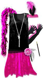 Roaring 20s PLUS SIZE Flapper Dress Halloween Costume 1x to 8x