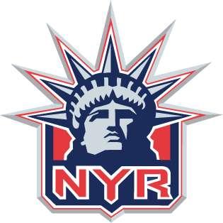 New York Rangers NHL Hockey Car Bumper Sticker 5X5