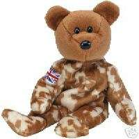 Ty Hero UK Bear Beanie Baby Babies MWMT Retired