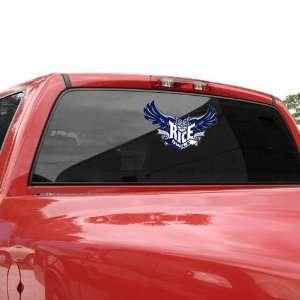 Rice Owls 10.5 x 5.5 Team Logo Window Cling  Sports