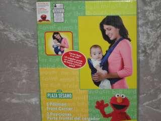 Sesame Street Elmo Cookie Monster Baby Carrier Blue NEW
