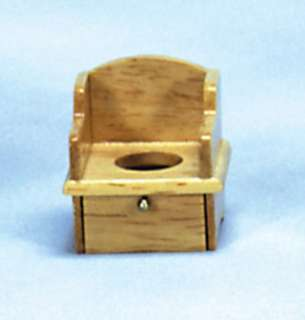 dollhouse MINI TOILET POTTY CHAIR OAK BATHROOM KIDS NEW