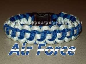 Air Force USAF Survival Bracelet   550 paracord