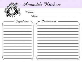 20) WEDDING BRIDAL Shower RECIPE CARDS   LIFETIME Keepsake