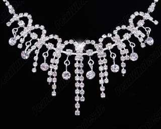 Free clear women jewelery necklace earring 1set
