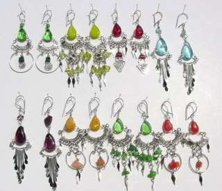 GLASS BEADS DANGLE EARRINGS HANDMADE (MU 1)