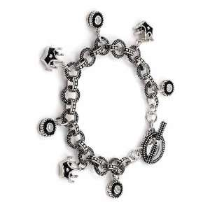 Bracelet With Crown Charms Toggle Clasp Charm Forever Jewelry