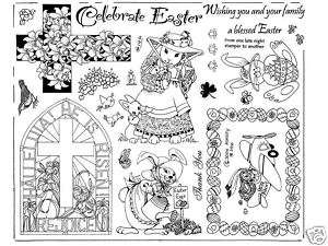 Unmounted Rubber Stamps Easter & Easter Bunnies 146
