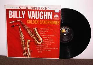 BILLY VAUGHN Golden Saxophones, original Dot vinyl LP, 1960