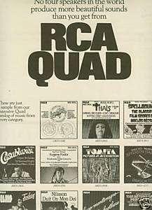 RCA Records 1975 QUAD Promo Poser Ad VARIOUS ARISS |