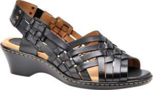Softspots Women Hazel Black Slingback Sandals 7.5 WW