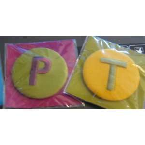Monogram Button   Embroidered Initial Pin   Two Tone Colors    The
