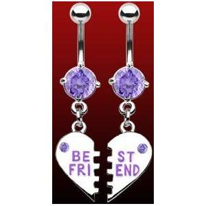 Best Friends Charm Navel Jewelry (Pair) Health & Personal