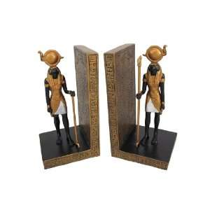 Pair Of Egyptian Falcon God Horus Bookends Book Ends