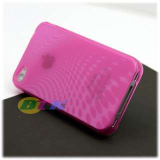 1x Soft Crystal TPU Silicone Gel Skin Case iPhone 4 4G