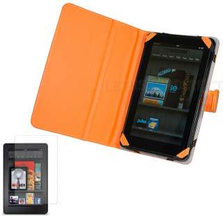 Leather Stand Case Cover for  Kindle Fire Tablet+LCD Guard