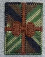 Camouflage & Brown Card Holder Plastic Canvas Handmade