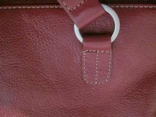 FRANCO SARTO, fuschia leather with silver tone hardware, large