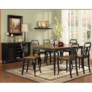 Counter Height Dining Set Driftwood WO DDT14867Es: Furniture & Decor