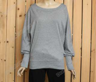 Hot Fashion Lady Batwing Dolman Long Sleeve Casual Tops T Shirt