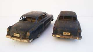 Lot of (2) Friction Cars FORD Old Toy Cars Tin Friction Toys