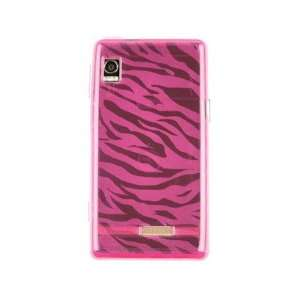 Rubberized Plastic Phone Design Case Hot Pink Zebra For