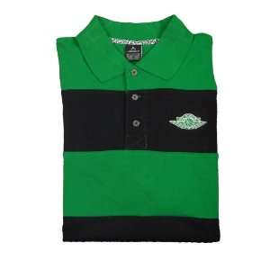 Nike Air Jordan Mens Short Sleeve Polo Shirt Green Black