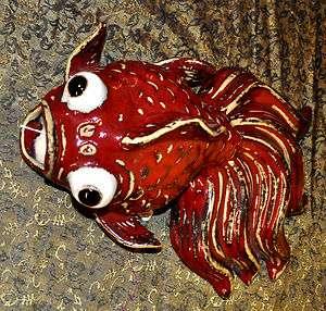 Koi Fish Wall pocket Chinese Porcelain Vase Statue Fancy goldfish 12