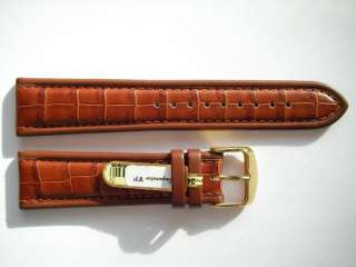 brown alligator Imperator watch band 22 mm ~ NEW high quality