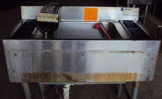 LINE COLD PLATE BAR ICE BIN W / FREE SODA GUN  EAGLE MB3CT