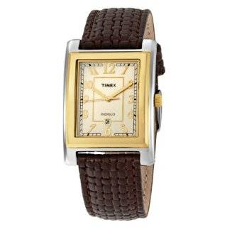 Timex Mens T29371 Classic Square Brown Leather Strap Watch Timex