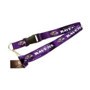 LAN   Baltimore Ravens Clip Lanyard Keychain Id Ticket Holder   Purple